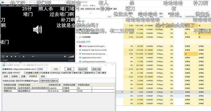 屏幕截图 2021-02-22 只打开弹幕