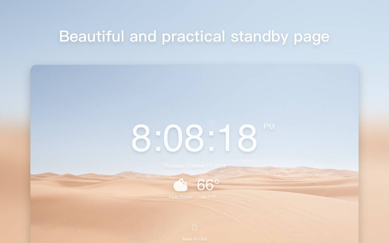 Standby page