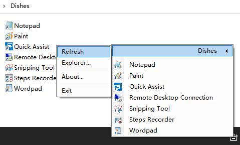 Dishes Launcher - 托盘里的快速启动工具[Windows]