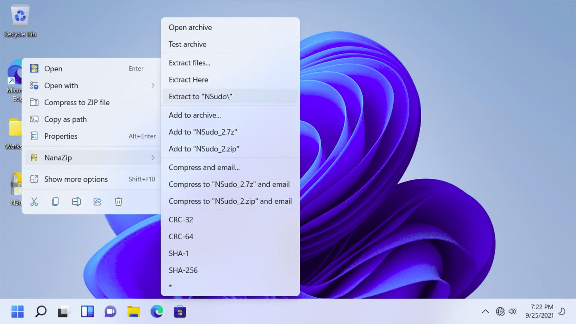 NanaZip - 适配 Windows 11 右键菜单的开源压缩工具,基于 7-Zip 2